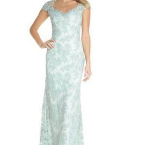 Tadashi Shoji Embroidered Corded gown dress